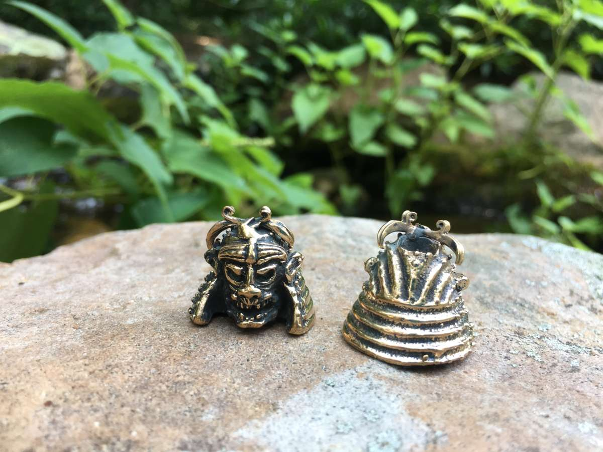 Lion Armory Samurai Lanyard Bead - Brass