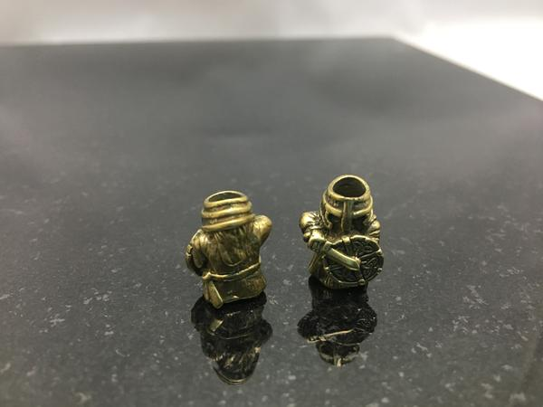 Bronze Warrior Lanyard Bead