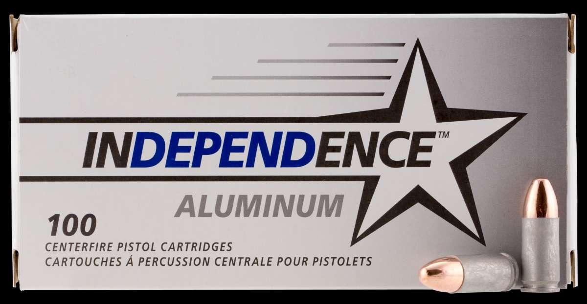 CCI IAL9115100 Independence 9mm Luger 115 GR Full Metal Jacket 100 Bx/ 5 Cs