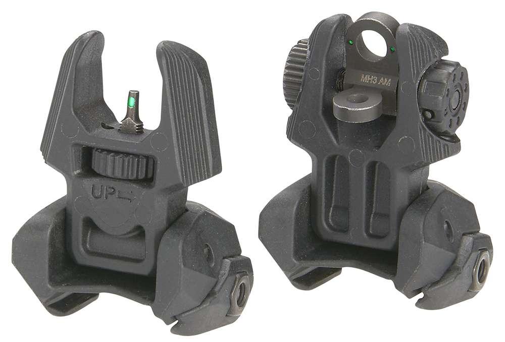Meprolight USA ML40310 FRBS  M2D Set Green Tritium Black