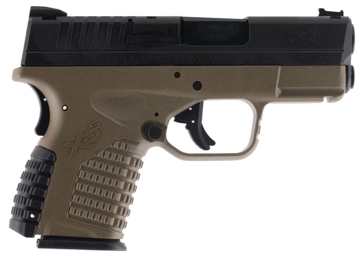 Springfield Armory XDS93345DEB XD-S Double 45 Automatic Colt Pistol (ACP) 3.3