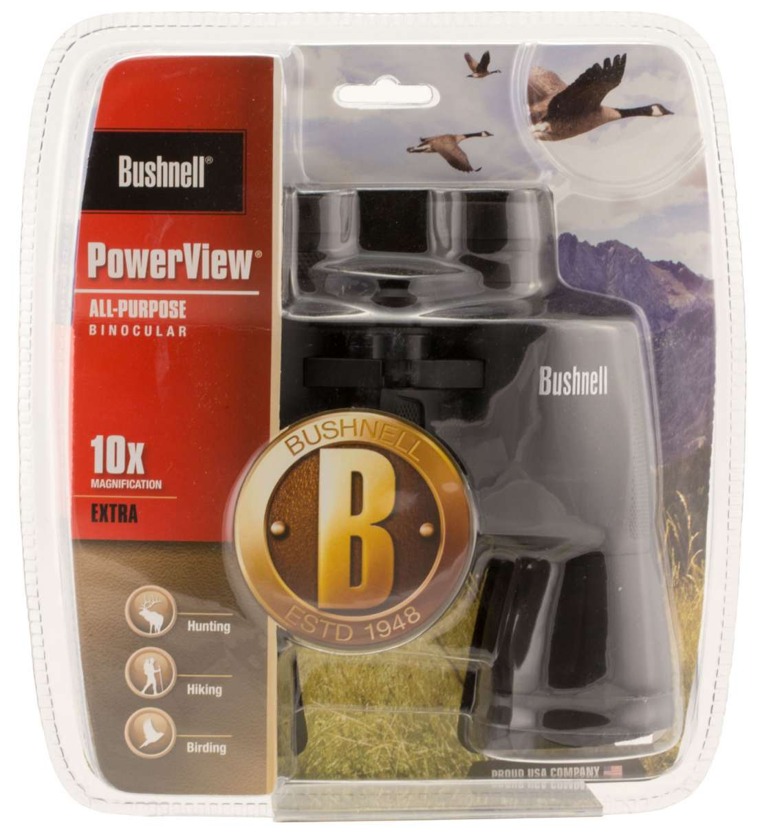 Bushnell Powerview 10x 50mm 341 ft @ 1000 yds FOV 10mm Eye Relief Blue Rubber Armor