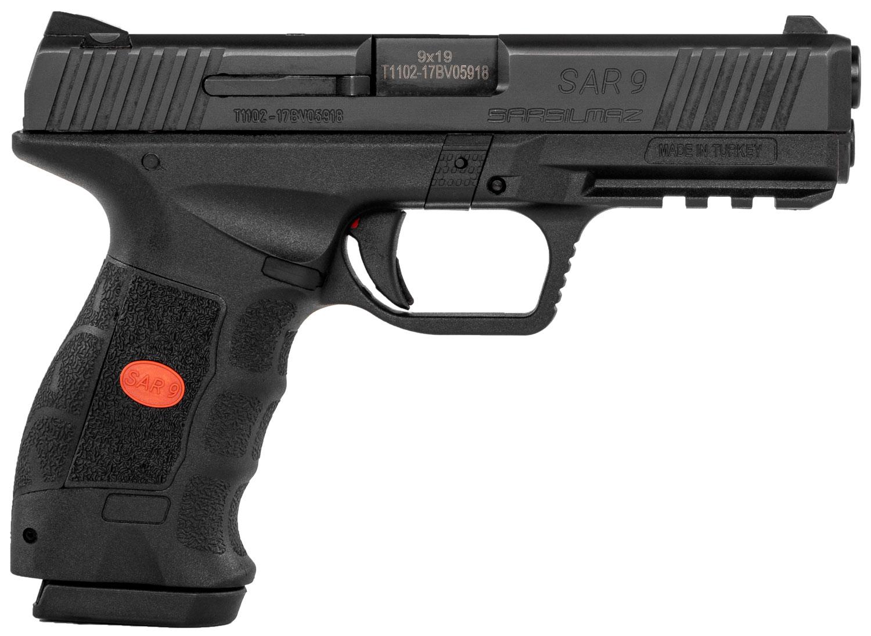 "Sar USA SAR9BL SAR9 9mm Luger 4.40"" 17+1 Black Black Black Interchangeable Backstrap Grip"